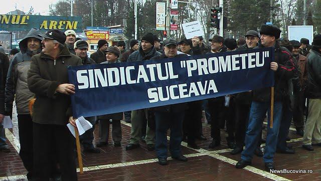 protest sindicalisti Termica