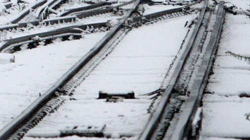 cale ferata iarna