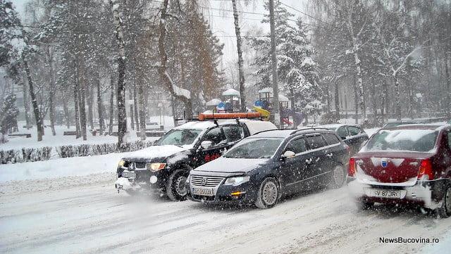trafic Iarna la Suceava5