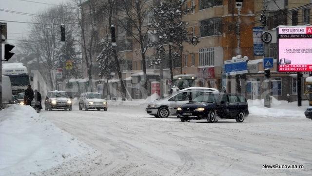 trafic Iarna la Suceava12