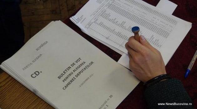 buletine vot si stampila parlamentare 2012