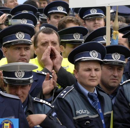 politisti protest