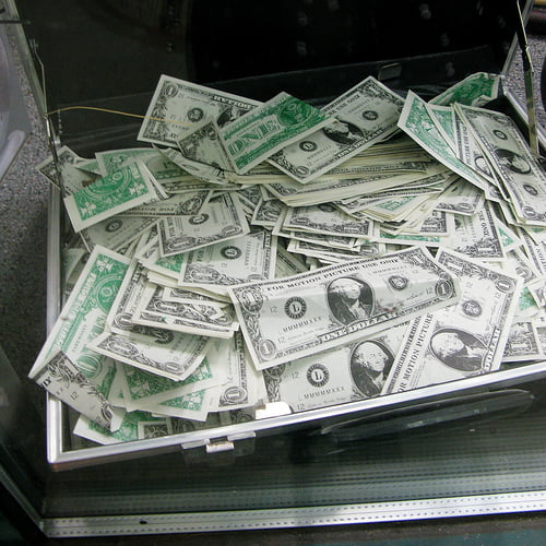 servieta cu bani