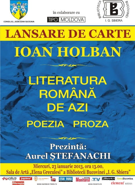 lansare de carte - HOLBAN
