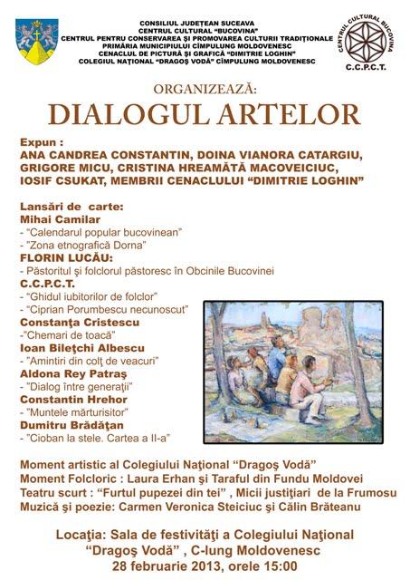 Afis Dialogul Artelor Campulung Moldovenesc