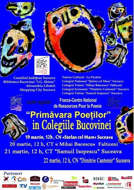 Copie de Primavara Poetilor in Colegiile Bucovinei, Le Printemps des Poetes, 2013