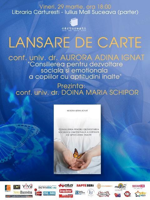 Lansare carte Adina Ignat