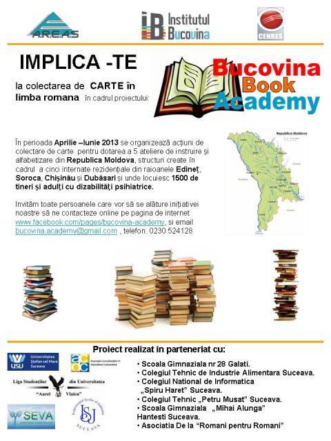 Afis Bucovina BOOK Academy