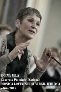 Doina Jela Laureata Premiului National Monica Lovinescu si Virgil Ierunca editia 2012