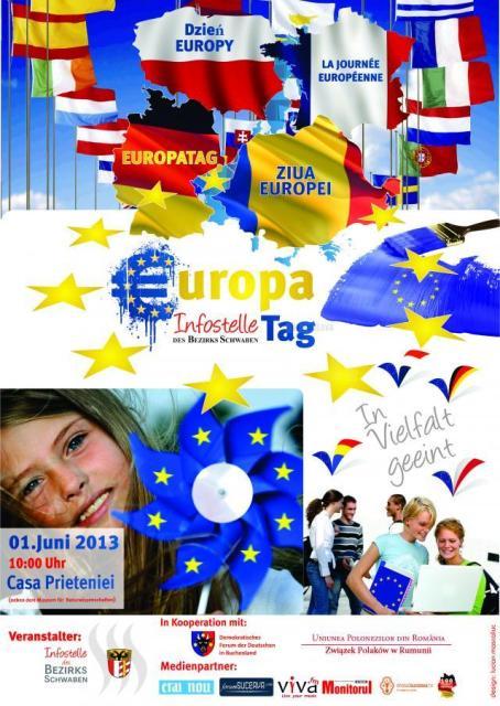 afis Casa Prieteniei - Ziua Europei - 1 iunie 2013