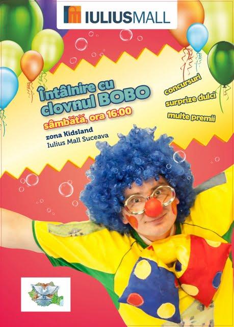 Afiş Întâlnire cu clovnul Bobo IM SV 2013
