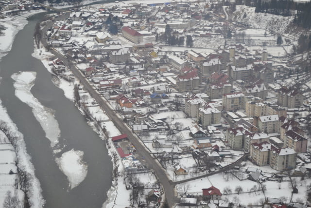 iarna elicopter vedere aeriana