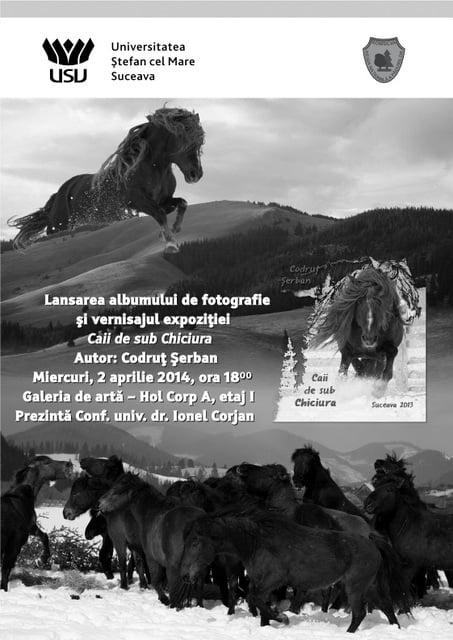 Afis manifestare Caii de sub Chiciura