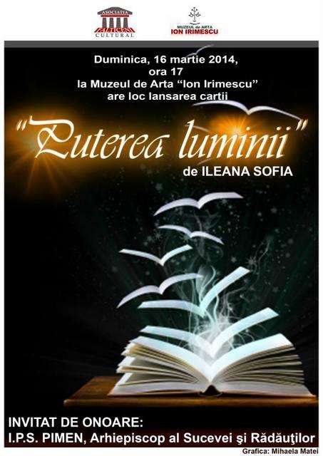 Lansare de carte- PUTEREA LUMINII-16 martie, Sala pictor Aurel Baesu
