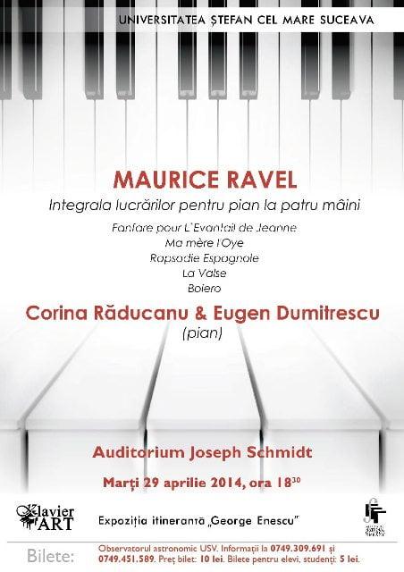 Afis concert Ravel USV