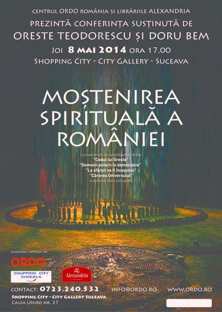 Afis conferinta Mostenirea la Suceava
