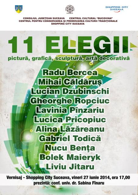 Afis - Expozitie - 11 Elegii(1)