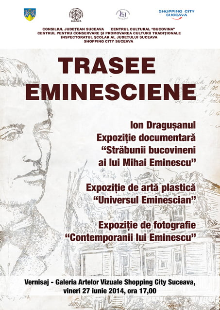 Afis - Expozitie - TRASEE EMINESCIENE