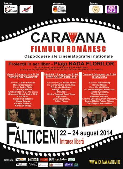 Afis Caravana Filmului Romanesc 2014
