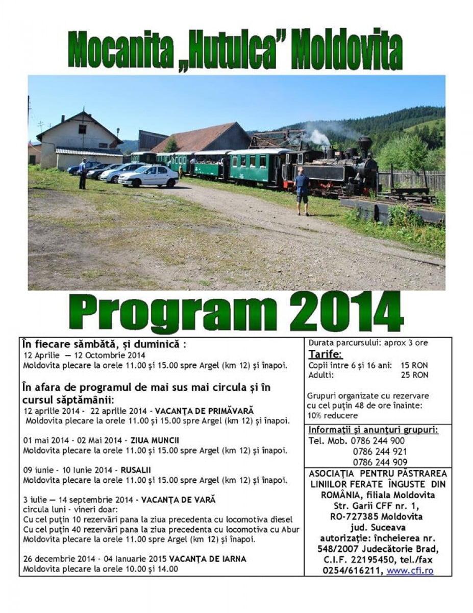 mocanita moldovita program 2014