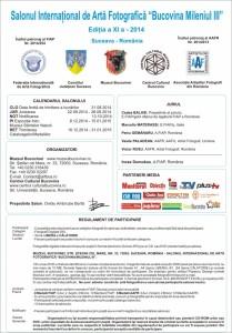 """Salonul Internaţional de Artă Fotografică """"Bucovina Mileniul III"""" 2014"""