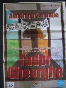 Tudor Ghorghe la Sv 2014 afis