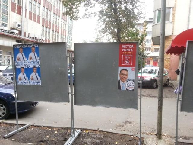 afis electoral panou iohannis ponta (2)