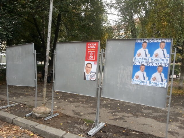 afis electoral panou iohannis ponta 4