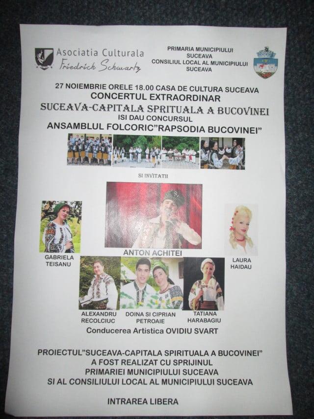 27 nov CONCERT SUCEAVA-CAPITALA SPIRITUALA A BUCOVINEI