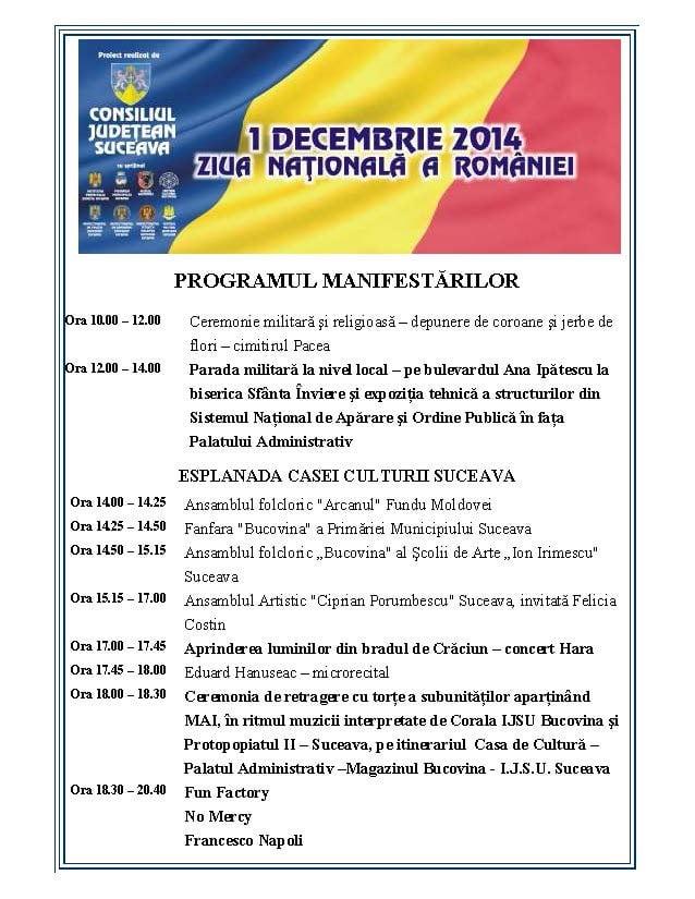 program manifestari 1 decembrie-2-1