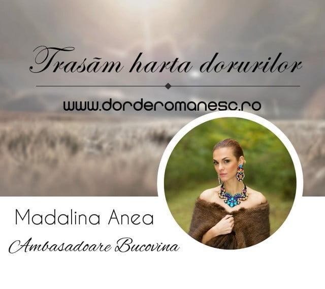 Madalina Anea, Ambasadoare Bucovina