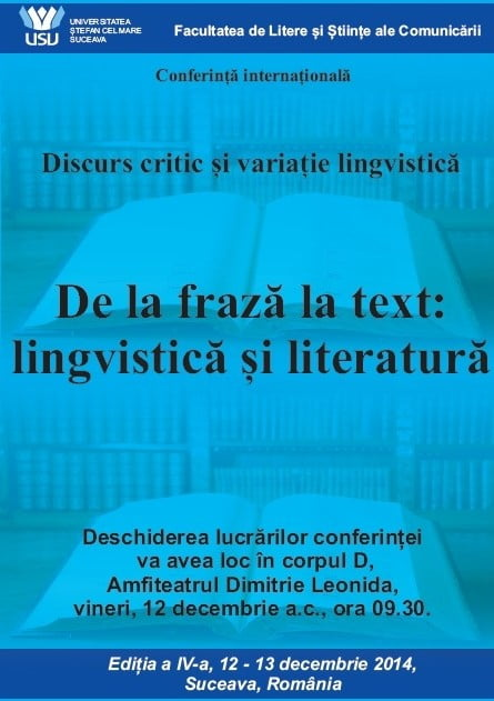 afis discurs critic si variatie lingvistica