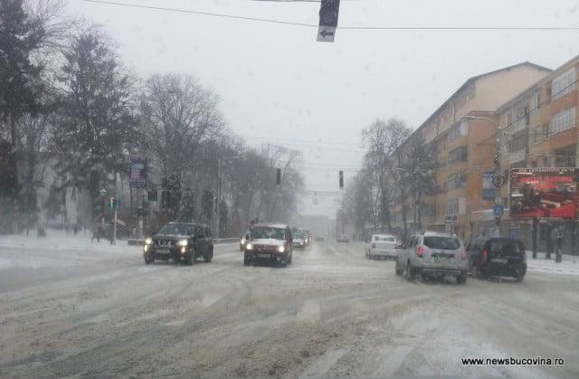 suceava under snow