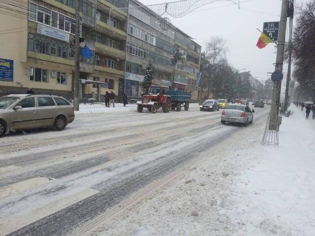 trafic iarna in municipiul suceava (1)