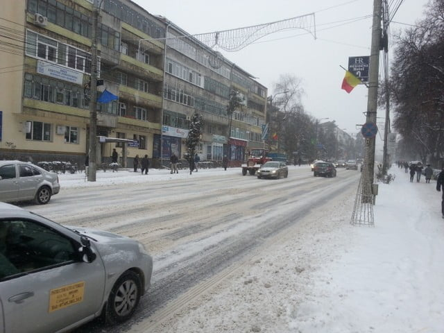 trafic iarna in municipiul suceava