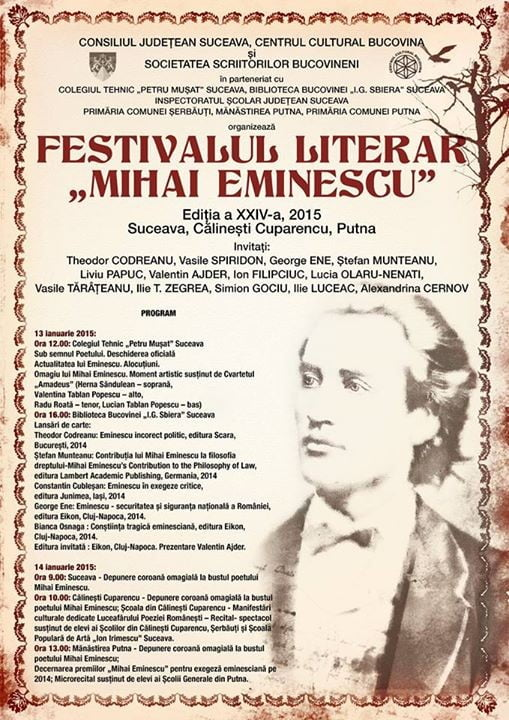 festivalul literar mihai eminescu 2014