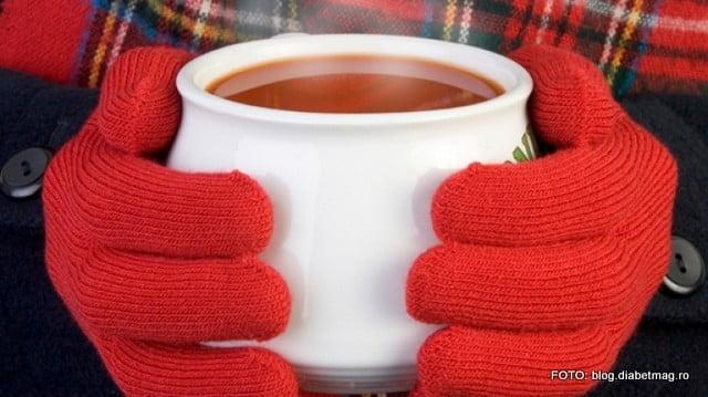 ger, iarna, ceai