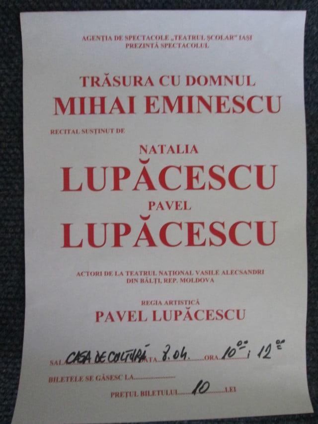 Trasura cu domnul Mihai Eminescu