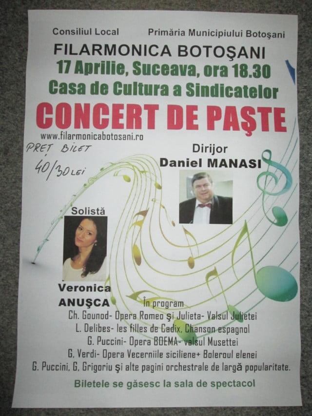 17 aprilie Concert de Paste