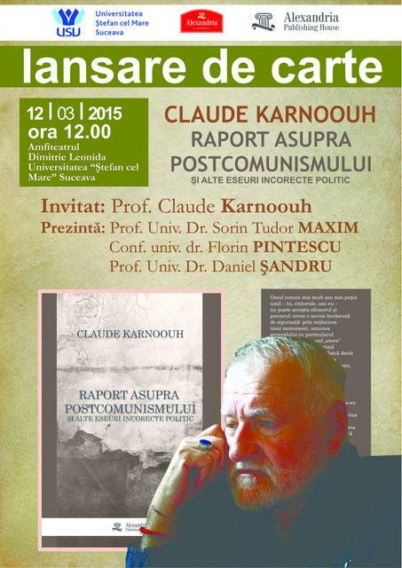 Lansare Claude Karnoouh_2015_SUCEAVA