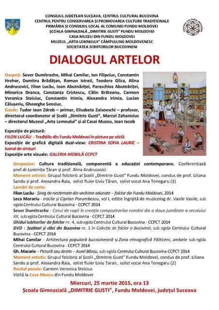 afis dialogul artelor 25 martie 2015