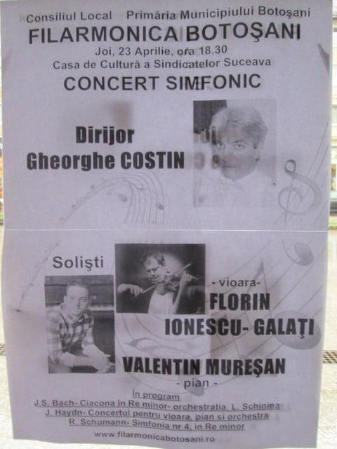 23 aprilie Filarmonica Botosani