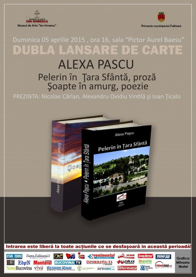 """Afis-""""DUBLA LANSARE DE CARTE""""-Alexa Pascu"""