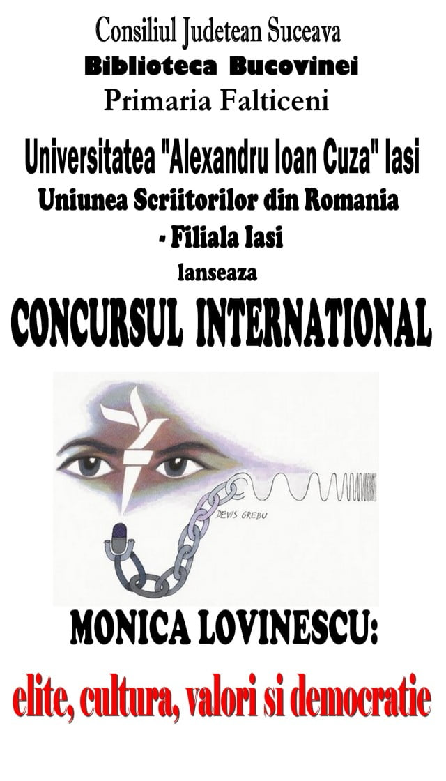 Afis Concurs international Monica Lovinescu