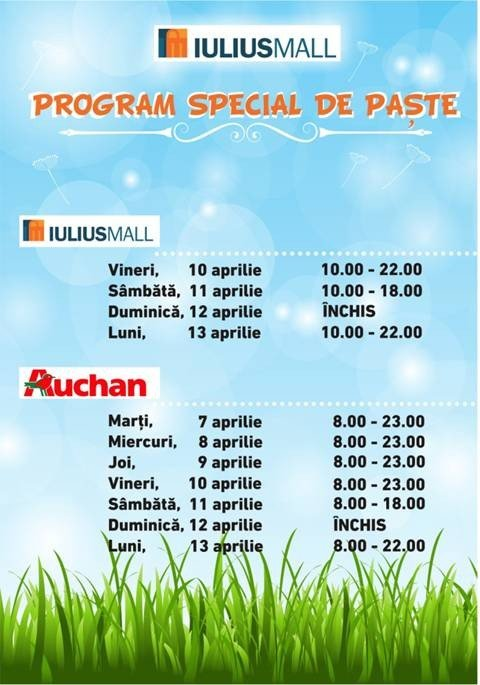 program iulius mall de paste