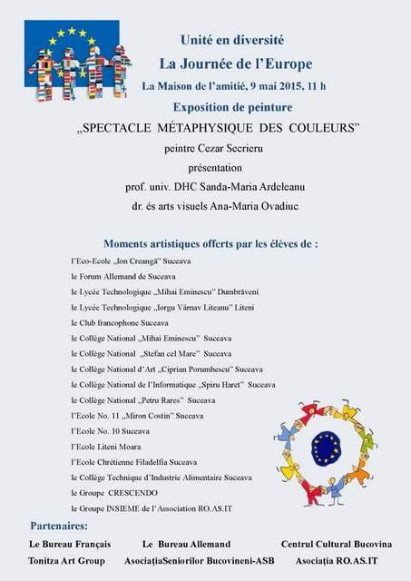 Afis Ziua Europei - 9 mai 2015