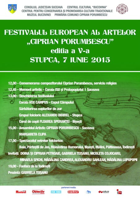 Festivalul European al Artelor - CIPRIAN PORUMBESCU -    editia V