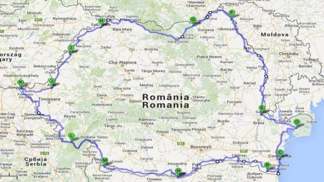 Turul Romaniei pe Granita cu Bicicleta