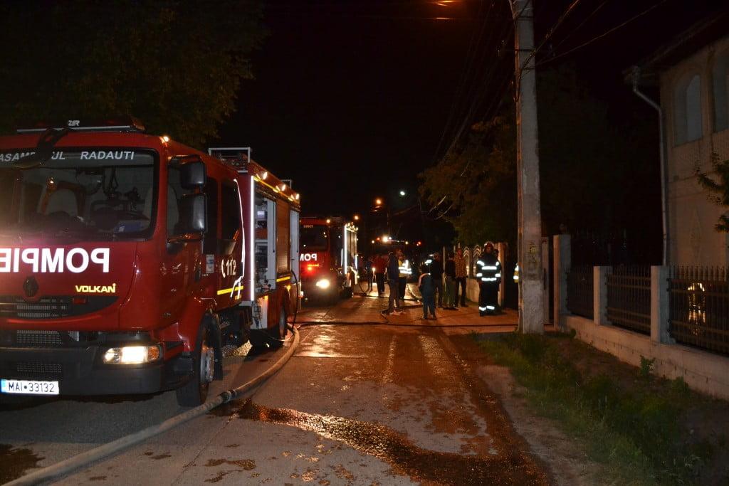 incendiu marginea (2), autospeciala noaptea