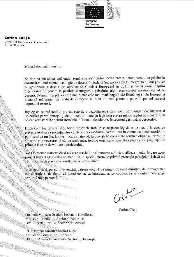scrisoare cretu